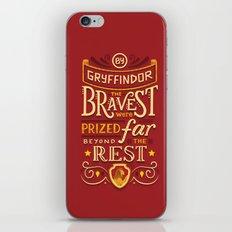 Bravery iPhone & iPod Skin