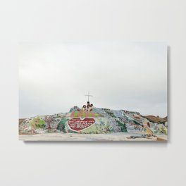 Salvation Mountain Metal Print