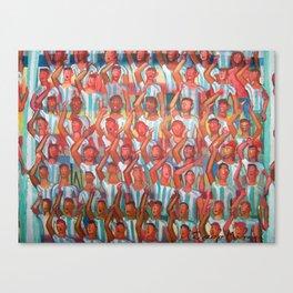 La hinchada de Argentina por Diego Manuel Canvas Print