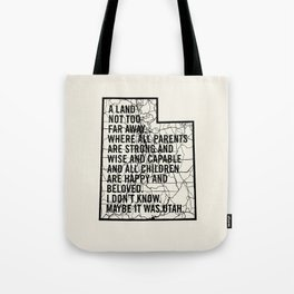 Raising Arizona - Maybe It Was Utah Tote Bag