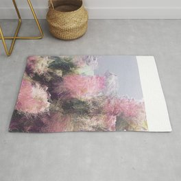 Wild Roses in Motion - Glitch Rug