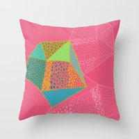 diamonds Throw Pillows featuring Diamonds by Sandra Arduini