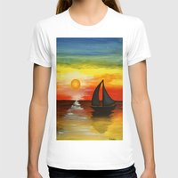 tequila T-shirts featuring Tequila Sunset by William Gushue