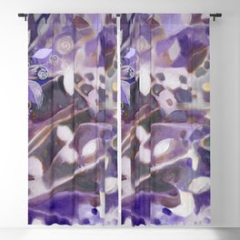 Myst Tree in Lavender by Laura Zollar Blackout Curtain