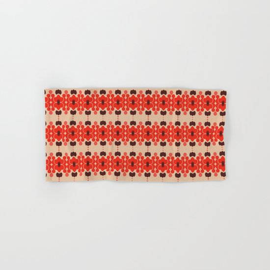 Red pattern rouge 6 Hand & Bath Towel