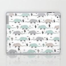 Cool western cactus desert Armadillo Animals illustration pattern Laptop & iPad Skin