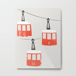 Barcelona Cable Cars Metal Print
