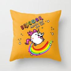 Unicorn made me do it! Throw Pillow