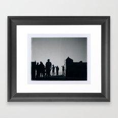 Big Wednesday - Malibu, CA Framed Art Print