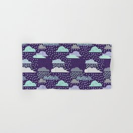 Rainy seamless pattern with clouds. Vector pattern Hand & Bath Towel