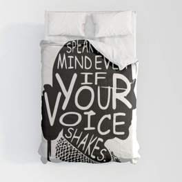 Ruth Bader Speak Your Mind Even If Your Voice Shakes, notorious rbg, ruth bader ginsburg Comforters