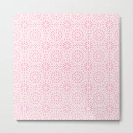 Mellow Pink Pattern Metal Print