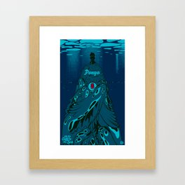 Ponyo on the Cliff by the Sea Framed Art Print