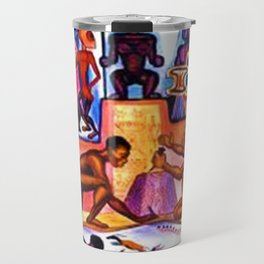 """African American Classical Masterpiece """"African American Slave History"""" by Hale Woodruff Travel Mug"""