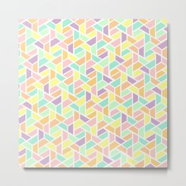 Geometric Jigsaw Metal Print