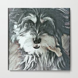 Puppy Rescue Sophie with Bone Metal Print