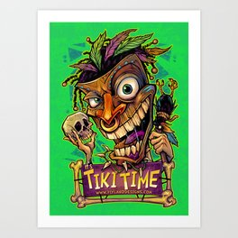 Tiki Time Art Print
