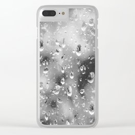 silver drop Clear iPhone Case