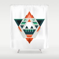 boss Shower Curtains featuring Sasquatch boss by Samuel Boucher