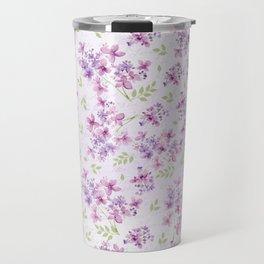 Little Purple and Pink Flowers Travel Mug