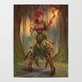 Wood Elf Mage Poster
