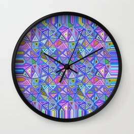 Patchwork Triangles Wall Clock