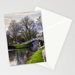 Footbridge By The Lock Stationery Cards