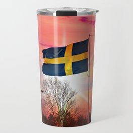 Swedish flags Travel Mug