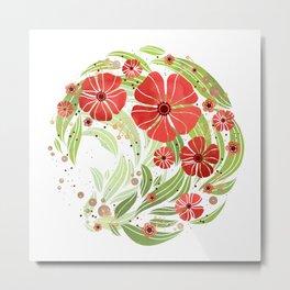 Hour of Flowers Metal Print