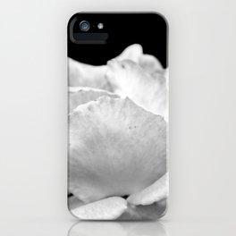 White Rose On Black iPhone Case