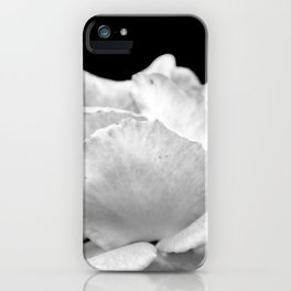 White Rose On Black iPhone Case