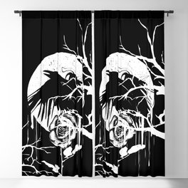 Raven and Rose Blackout Curtain