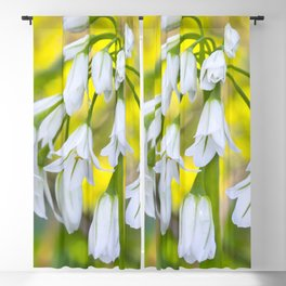 White woodland flora. Blackout Curtain