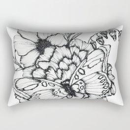 Fluttering Ink Rectangular Pillow