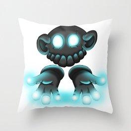 Monkey Glove Lights Throw Pillow