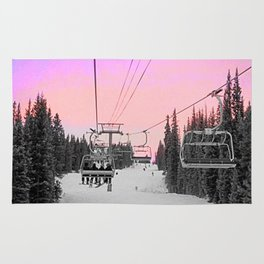 Ski Lift Sunset Shot on iPhone 4 Rug