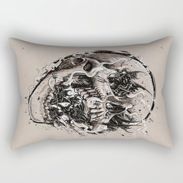 skull with demons struggling to escape Rectangular Pillow