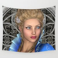 fairytale Wall Tapestries featuring Fairytale Princess by Design Windmill