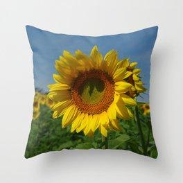 Sunflower soloist (with backup chorus!) Throw Pillow