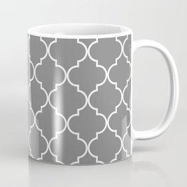Quatrefoil - Gray Coffee Mug
