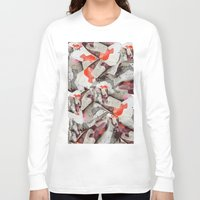 splatter Long Sleeve T-shirts featuring SPLATTER PRINT by Cat Milchard