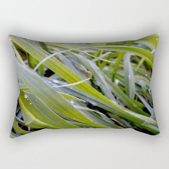 water and greenery Rectangular Pillow