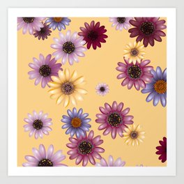 Multicolored natural flowers 15 Art Print