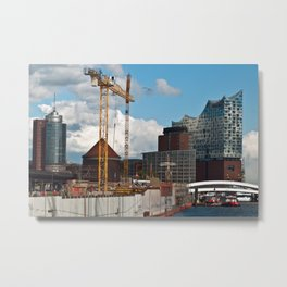 HAMBURG HARBOR SOUND Metal Print