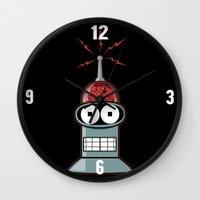 bender Wall Clocks featuring Bender by Betmac