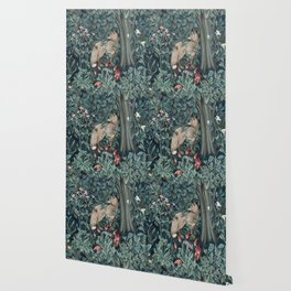 William Morris Forest Fox Tapestry Wallpaper