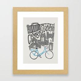 Cambridge Cityscape Framed Art Print
