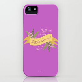 What Would Lizzie Bennet Do? II iPhone Case