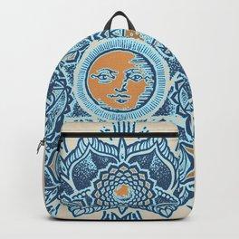 Alyson Anahata Seven Chakra Sun Flower Mandala 1 Backpack