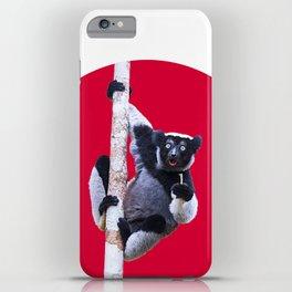 Indri indri sitting in the tree iPhone Case